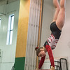 AMANDA SABGA/Staff photo<br /> <br /> Gloucester High School's Victoria Pekrul on the beamduring a gymnastics meet at Essex Technical School. <br /> <br /> 1/30/19