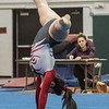 AMANDA SABGA/Staff photo<br /> <br /> Gloucester High School's Juliana Bolognese performs her floor routine during a gymnastics meet at Essex Technical School. <br /> <br /> 1/30/19