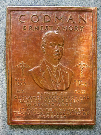 Courtesy photo One of Gloucester Daniel Altshuler's latest commission's was a bas relief plaque for the the Codman Memorial, which dedicate earlier this month.