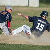 Desi Smith photo.    Desi Smith photo.   M/E Mariners Max Nesbit slides safely into 3rd on a fly ball it deep to center field by Rusty Tucker in the bottom of the second against Topsfield Tuesday afternoon at Memorial Field in Essex. July 19,2016.