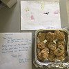 Courtesy photo<br /> The Manchester Police posted this picture of cookies and cards dropped at the station by a local family in the wake of the Dallas police shootings. The department posted it on its Facebook page and Twitter account.