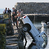 Truck Goes Into Water at Lane's Cove