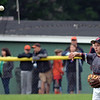 RYAN HUTTON/ Staff photo<br /> Gloucester's Tommy Elliott tosses the ball in from right field in the bottom of the first inning of the District 15 Little League Final game against Beverly at Harry Ball Field in Beverly on Thursday.