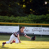RYAN HUTTON/ Staff photo<br /> Gloucester's Emerson Marshall dives for the ball during the bottom of the fourth inning of Wednesday's game against Danvers at Boudreau Field in Gloucester.