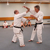 MIKE SPRINGER/Staff photo<br /> John Mahaney, left, and Art Bean of Uechi Ryu Karate give a karate demonstration Tuesday at the Sawyer Free Library in Gloucester.<br /> 6/16/2019