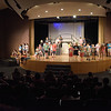 TIM JEAN/Staff photo<br /> <br /> The entire cast for Us & Them By David Campton perform on stage during a rehearsal in the O'Maley Academy Drama Camp at the O'Maley Innovation Middle School Auditorium. The drama camp students will perform 2 short plays today at noon: Us and Them by David Campton and The First People by Faye Davis and Company. Admission is free.  7/17/19