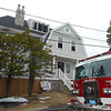 RAY LAMONT/Staff photo<br /> A newly renovated three-story home at 29 Shore Road was heavily damaged inside by fire Thursday morning.
