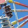 AMANDA SABGA/ Staff photo <br /> <br /> Cash Lorentzen, 13, Cassienne LeVan, 13, Ariel Eduardo,14, and Meriel Beyer, 14 all of Gloucester, freak out while riding the Freak Out at the Fiesta Shows carnival during the annual Gloucester St. Peter's Fiesta<br /> <br /> <br /> 6/22/16