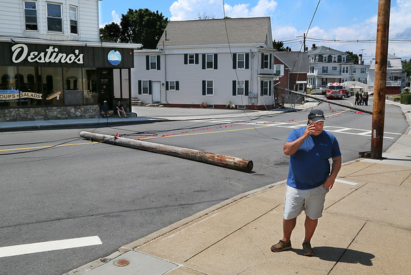 Utility Poles Knocked Down