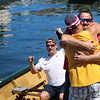 Photo by Allegra Boverman. Gloucester: During the 64th annual Intenational Dory Races held in Gloucester's Inner Harbor on Saturday morning. During the Master's division race the U.S. team, John Scola, right,  and Mike Harmon, seated left, won.