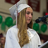 Desi Smith/Staff photo.  Class Saluatatorian Lydia Sweetsern delivers the Opening Address during the 2016 Graduation Ceremony held at Rockport High School Friday night.    June 3,2016