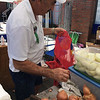 Courtesy photo<br /> Ambie Scola prepares sliced onions Sunday on his final day at Fiesta. He said he is retiring.
