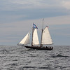 AMY SWEENEY/Staff photo. The Schooner Thomas E. Lannon took a sail out to watch the start of the Rendez-Vous 2017 Tall Ships Regatta to Canada, off the coast of Rockport.<br /> June 22, 2017