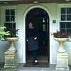"HEATHER ATWOOD/Courtesy photo<br /> Chef Barbara Lynch, in the doorway of her Annnisquam home, will read from her new memoir, ""Out of Line, a Life of Playing With Fire,"" at The Bookstore of Gloucester on Thursday at 7 p.m."