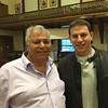 RAY LAMONT/Staff photo<br /> Dennis Silva, left, and his son Doug, of Topside Grill