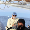AMY SWEENEY/Staff photo. Capt. Tom Ellis and first mate Zach Dahlemr head back to port after the Schooner Thomas E. Lannon took a sail out to watch the start of the Rendez-Vous 2017 Tall Ships Regatta to Canada, off the coast of Rockport.<br /> June 22, 2017