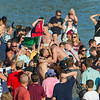 AMANDA SABGA/Staff photo<br /> <br /> Frank Taormina is congratulated and carried after retrieving the flag during Friday night's St. Peter's Fiesta's Greasy Pole competition at Gloucester's Pavilion Beach. <br /> <br /> 6/29/18