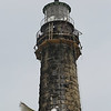 MIKE SPRINGER/Staff photo<br /> The north lighthouse at Thacher Island in Rockport is circled with scaffolding Wednesday as workers with the International Chimney Corporation make repairs.<br /> 6/27/2018