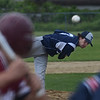 MIKE SPRINGER/Staff photo<br /> Triton's Andrew Maiuri pitches against a Gloucester batter Thursday during Division 3 North first round baseball playoff action in Gloucester.<br /> 6/7/2018