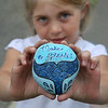 "MIKE SPRINGER/Staff photo<br /> Taylor Warren, 6, holds her favorite ""Glosta Rock.""<br /> 6/14/2018"
