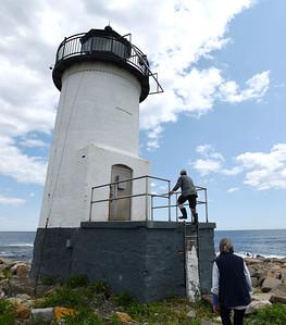 Lightkeepers return to staritmouth island.