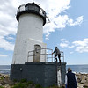 Lightkeepers return to staritmouth island.