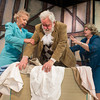 "DESI SMITH/Staff photo.   Annegret Reimer (left) Mistress Ford, Ray Jenness, Falstaff and Linda Stiegler, Mistess Page, act out a scene in a rehearsal for ""The Merry Wives of Windsor"" Monday night at the Gloucester Stage Company. The plays start May 8, 9, 10, 15, 16, 17, at 8 PM; May 11 and 18 at 3 PM at the Gorton Theatre (home of Gloucester Stage Company) 267 East Main Street. Tickets are $15 general admission, $10 student, and $5 youth under nineteen and may be purchased at the door or reserved at cast2008@prodigy.net  May 5,2014"