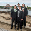 DESI SMITH/Staff photo.  Prom goer's from left to right, Twin brothers Will and Mike Davis and brothers Bill and Cory Burnham, pose for photos for family and friends, Friday afternoon at Tucks Point before heading off for prom night.  May 30 ,2014
