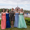 DESI SMITH/Staff photo.  Prom goer's from left to right, Courtney Macdougall, Mariah Litka, Emily Jaworski, Phebe Bigger and Lizzie Ranger,show off their gowns Friday afternoon at Tucks Point before heading off to prom night.  May 30 ,2014