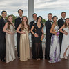 DESI SMITH/Staff photo.  Prom goer's from left to right, Ed Siqueria and Abby Buck, Filip Matracki and Maddie Pomeroy, Kevin Iwata and Annie Gonzales, Michael Loebelenz and  Miyen Chang, and Sam Nesbit and Carly Tofuri, all pose for photos for family and friends, Friday afternoon at Tucks Point before heading off for prom night.  May 30 ,2014