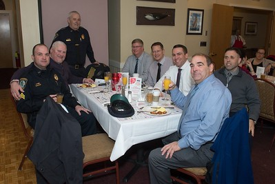 Desi Smith Photo.  Gloucester Police Cheif John McCarthy and other members of his department got together to support the Senior Care Meals-On-Wheels Valentine Fundraiser Breakfast Friday morning at Gloucester House. Originally planned for February, it was postponed due to a snow storm. The money raised supports the Meals on Wheels on Cape Ann and North Shore. Last year 165,000 meals were delivered.  March 10,2017
