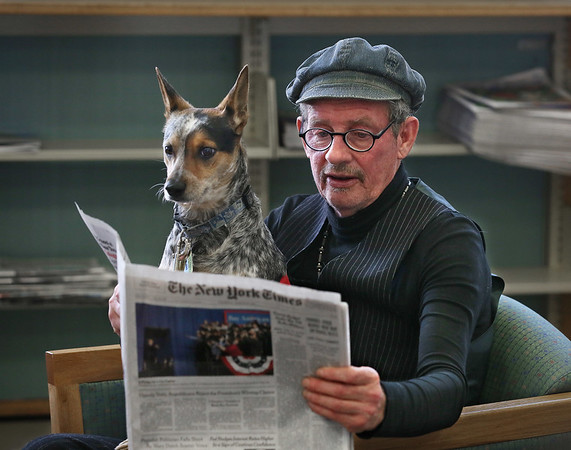 Irishman Rory O'Connor and his dog Bullitt