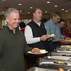 Desi Smith Photo.  From left, Ken Riehl, State Rep Brad Hill of Ipswich and Peter Webber get served at the Senior Care Meals-On-Wheels Valentine Fundraiser Breakfast Friday morning at Gloucester House. Originally planned for February, it was postponed due to a snow storm. The money raised supports the Meals on Wheels on Cape Ann and North Shore. Last year 165,000 meals were delivered.  March 10,2017   Desi Smith Photo/Gloucester Daily Times