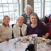 MIKE SPRINGER/Staff photo<br /> From left, Ida Christopher LPN, Grace Simpson RN, Catherine Perry, Lee Swekla (standing), Catherine Porter and Nan Boyle attend the annual Meals on Wheels benefit breakfast Friday at the Gloucester House restaurant.<br /> 3/16/2018