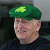 MIKE SPRINGER/Staff photo<br /> Richard Royer enjoys the St. Patrick's Day luncheon Thursday at the Rose Baker Senior Center in Gloucester.<br /> 3/15/2018
