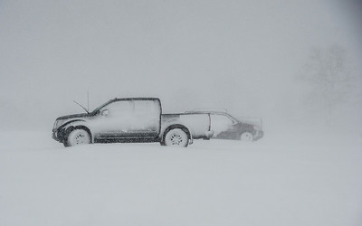 Desi Smith Photo.  Only a few residents chose to park their vehicles at the parking lot at Stage Fort Park during Gloucester's parking ban Tuesday morning.   March 13,2018.