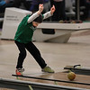 MIKE SPRINGER/Staff photo<br /> Five-year-old Braydon Simon of Gloucester rolls the ball Saturday while candlepin bowling at the Cape Ann Lanes in Gloucester.<br /> 3/17/2018