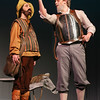 "MIKE SPRINGER/Staff photo<br /> Hattie Mae Rich, left, and Ryan Tabor, both juniors, play Sancho Panza and Don Quixote in the Rockport High School production of ""Don Quixote.""<br /> 2/27/2018"