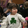 MIKE SPRINGER/Staff photo<br /> Two-year-old Hannah Morgan moves to the rhythm during a musical storytime Friday at the Sawyer Free Library in Gloucester.<br /> 3/16/2018
