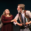 """MIKE SPRINGER/Staff photo<br /> Olivia Newman plays Dorotea and Ryan Taber plays Don Quixote in the Rockport High School production of """"Don Quixote.""""<br /> 2/7/2018"""