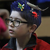 """MIKE SPRINGER/Staff photo<br /> Second-grader Ryker Sova wears an under-sea hairdo -- complete with an octopus, shark and SCUBA diver -- during """"Crazy Hair Day"""" Friday at East Gloucester Elementary School.<br /> 3/30/2018"""