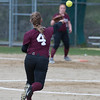Desi Smith/Staff photo.   Rockport's Meaghan Wonson fields a ground ball and throws to first  against Masconomet Friday afternoon at Rockport High School.    May 13,2016