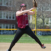 Desi Smith/Staff photo.      Gloucester's pitcher Karina Keenan throws against Salem Saturday afternoonat GHS softball field.    May 14,2016
