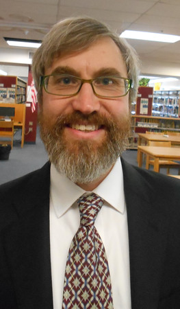 RAY LAMONT/Staff photo<br /> James Cook, program leader of the Gloucester High School English Department, is a finalist for the principal's job at the school.