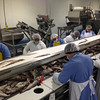 SEAN HORGAN/Staff photo<br /> Employees at Gloucester Seafood Processing work the line.