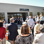 Desi Smith/Staff photo.    A group of supporters and donors attend the ribbon cutting ceremony at the openning of Gloucester Biotechnology Academy at 55 Blackburn Center Saturday morning.The ...
