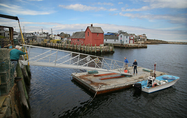 Dock Ramp Installed in Rockport Harbor