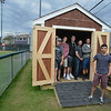 Students Build Baseball Shed