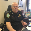 RAY LAMONT/Staff photo<br /> Interim  police Chief John McCarthy speaks about the Angel Program in his office at the Gloucester station on Wednesday.