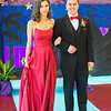 Desi Smith Photo.       Madison Randazza and Preston Mattson are all smiles as they are start to make their way around the high school gym during the pre-prom promendade at Rockport High School Friday night.   May 18,2018  Rockport's pre-prom promendade   Desi Smith Photo/Gloucester Daily Times.